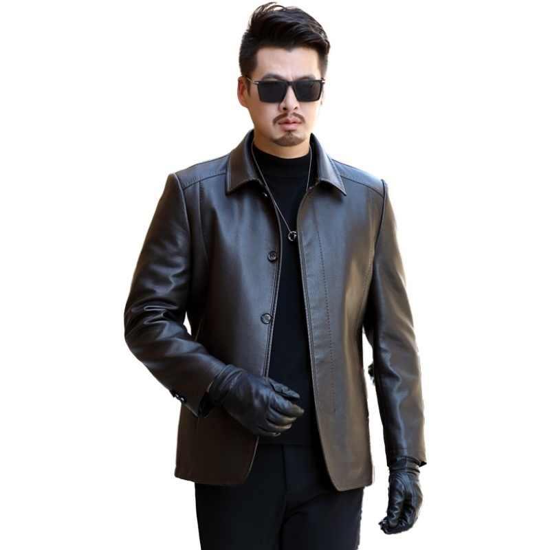 2020 yeni marka erkek DERİ CEKETLER mont kış erkek moda deri ceket erkekler rahat sıcak DERİ CEKETLER eiderdown