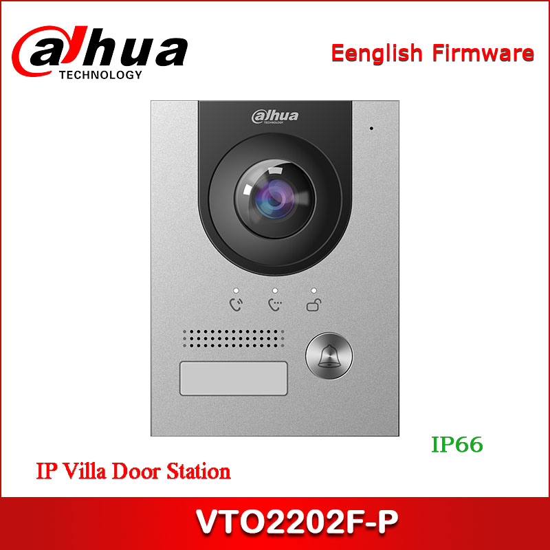 Dahua VTO2202F-P IP Villa สถานีประตูสนับสนุน POE Night Vision และเสียงตัวบ่งชี้ 160 ° มุมมอง 2MP CMOS กล้อง