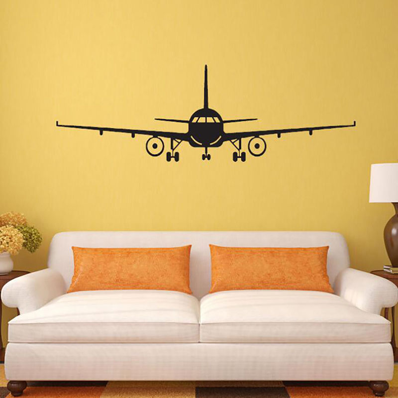 Creative Fashion Airplane Aircraft Wall Stickers Decals Home Kids Bedroom DIY Decor Boy Bedroom Wall Decoration Sticker image