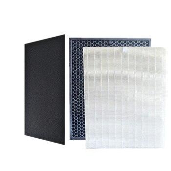 1 set (3pcs) air purifier filter HEPA activated carbon ffilter cotton for Sharp FU-P40S-A FU60S-A FU-888SV FU-4031NAS 405 240 mm activated carbon collect dust hepa filter deodorant filter of air purifier parts for f vxh50c f pxh55c etc