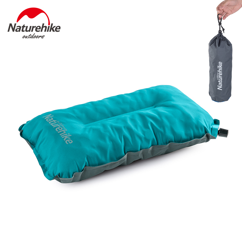 Naturehike Portable Folding Outdoor Travel Sleep Pillow Air Inflatable Cushion Break Rest Comfortable Pillow Camping Accessories