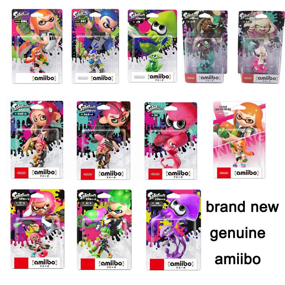 Nintendo Switch Amiibo Splatoon 2 фигурки NFC Inkling мальчик девочка кальмар жемчуг Марина нс