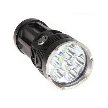 6T6 6 x XM-L T6 8000 lumenów 3 tryb latarka LED + 4*18650 bateria + ładowarka lampa do podwodnego polowania Torcia Led