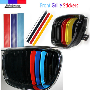 3pcs Car Front Grille Trim Kidney Grille Stickers For Bmw E36 E46 E90 E91 E92 E93 E81 E82 E87 E88 E34 E39 E60 E61 E84 E83 E39 Z4 image