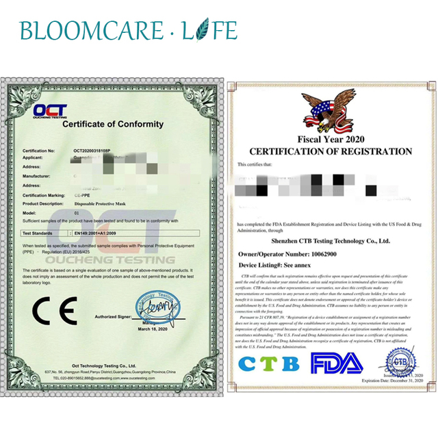 Ship in 24 Hours 【BloomCare】KN95 Mouth Mask Dust-proof Anti-Flu Breathable Comfortable Face Mask 3