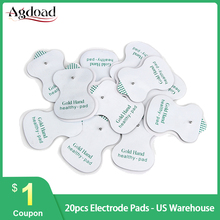 20PCS Self Adhesive Replacement Tens Electrode Pads for Digital Acupuncture Machine Muscle Stimulator Massager Sticker