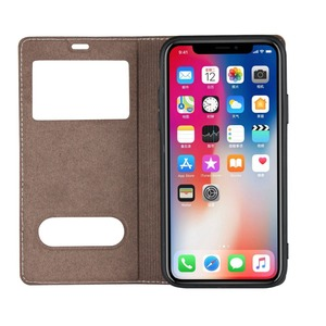 Image 4 - Genuine Leather Case For Apple iPhone 5 Se 6s 7 8 Plus iPhone X XR XS Max Vision Window Phone Cases Flip Case Leather Cover