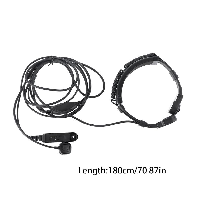 Telescopic Throat Vibration Mic Earpiece Headset For Baofeng UV-9R Plus Radio