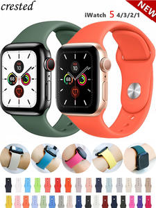 Silicone Strap For Apple Watch band 44mm 40mm 38mm 42mm Rubber belt correa wristband
