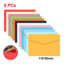 5pc /lot Candy color mini envelopes DIY Multifunction Craft Paper Envelope For Letter Paper Postcards School Material