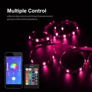 Image 5 - SONOFF L1 스마트 RGB LED 라이트 스트립 5050 5M 2M 디 밍이 가능한 방수 와이파이 유연한 다채로운 스트립 조명 알렉사 구글 홈