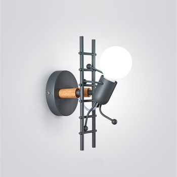 American LED wall light industrial style iron art villain stairs wall sconce children room bedroom hotel bedside light fixtures industries aisle american retro style wall lamp bedside bedroom balcony stairs american iron wall lights sconces serge blanco