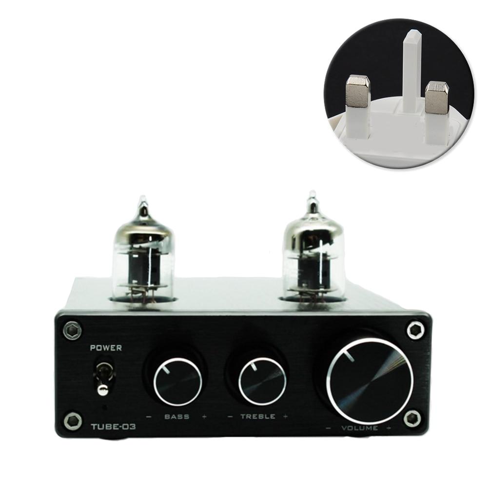 HIFI Vacumn casque platine vinyle préampli Phono RIAA pré amplificateur réglable Aluminium universel Mini maison 6k4 Tube