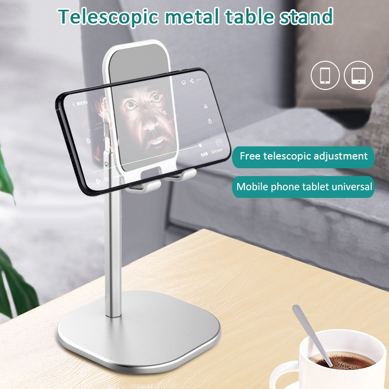 New Telescopic Stand Bracket Metal Aluminum Alloy Mobile Phone Holder 360 Degree Rotation DOM668