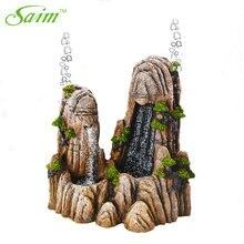 Резервуар для аквариума Saim, 9,5 дюйма, имитация смолы, Rockery, большой размер, аквариумные животные для украшения аквариума, украшения в виде скалы