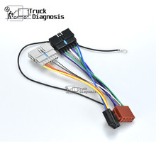 12 008 ISO radyo adaptörü CHRYSLER için DODGE JEEP kablo demeti konnektörü kurşun tezgah kablo fiş adaptörü stereo