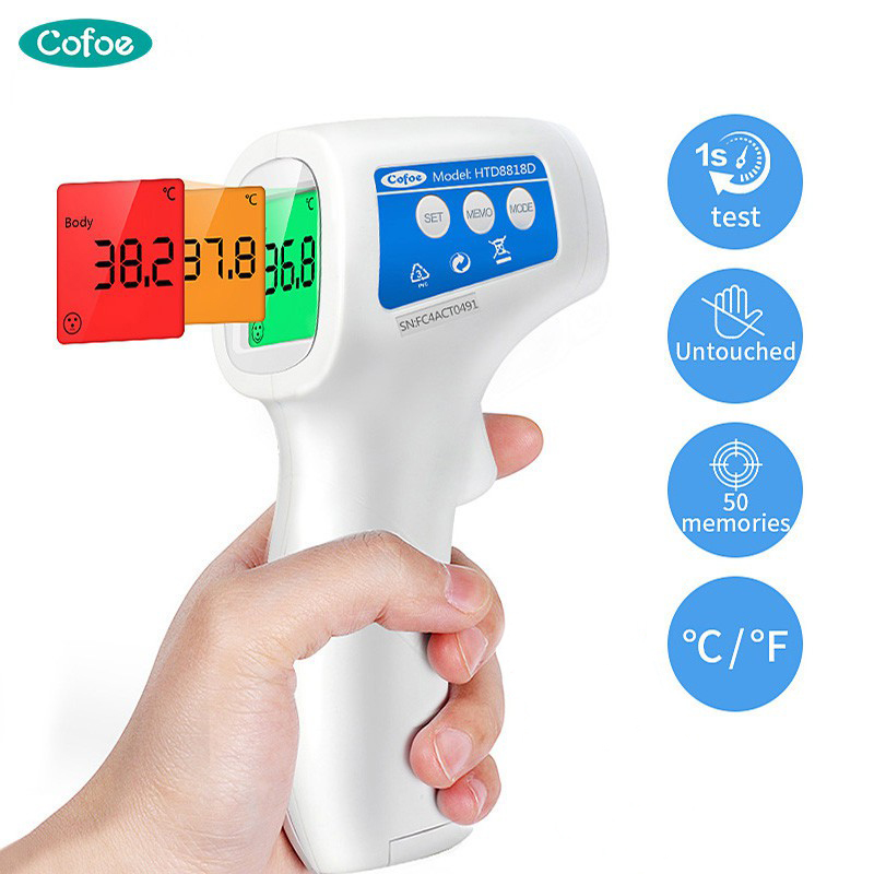 Cofoe Baby Forehead IR Infrared Thermometer Non-Contact Fever Thermometer LCD Display Body/Object Temperature Measurement
