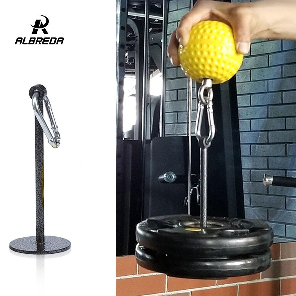 ALBREDA Weight Lifting Dumbbell Dumbbell Bracket Dumbbell Rack Fitness Grip Ball Dumbbell Holder Arm Exercise Accessories