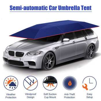 4.2×2.1M Portable Outdoor Car Tent Umbrella Roof Cover UV Protection Kits Car Cover Umbrella Sun Shade