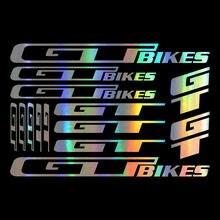 Para bicicletas gt decalque de vinil adesivos folha quadro ciclo ciclismo bicicleta mtb estrada 34cm * 22cm
