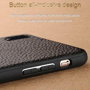 Image 4 - יוקרה עור טלפון מקרה עבור xiaomi mi 8 לייט A2 A1 9T 9 SE מקרה עמיד הלם אמיתי עור חזרה כיסוי עבור redmi הערה 7 K20 מקרה