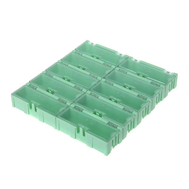 Mini SMD SMT Electronic Box IC Electronic Components Storage Case 75x31.5x21.5mm