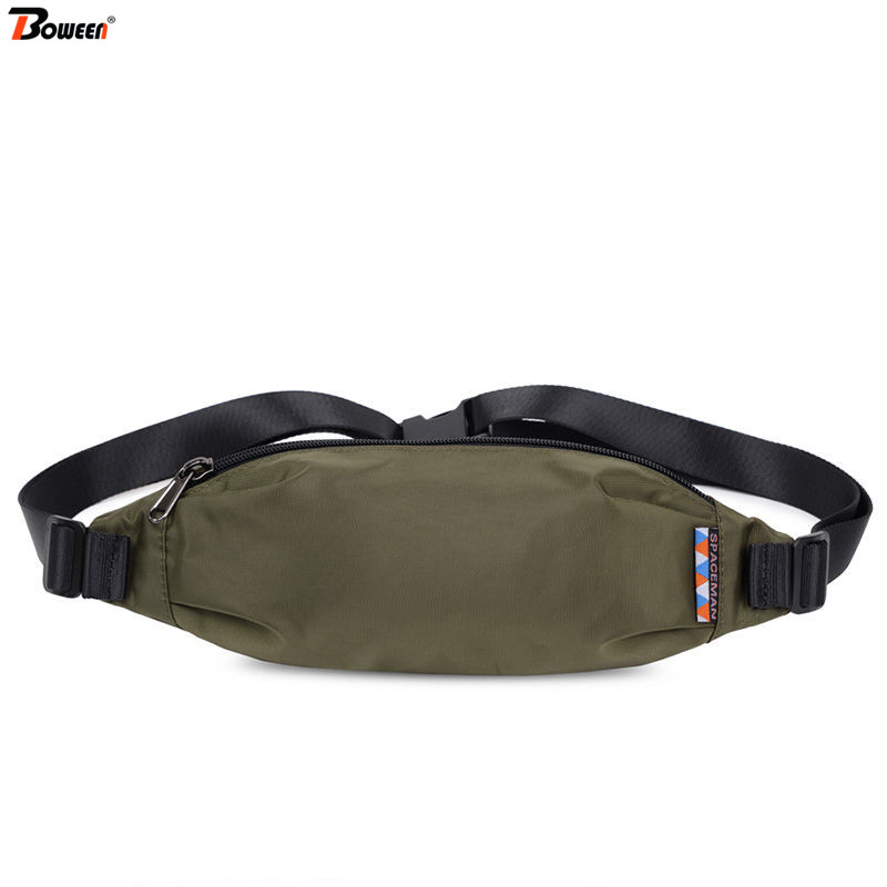 2020 Waist Bag Men Fanny Packs Lightweight Oxford Waist Pack Small Hip Chest Belt Bag Casual Outdoor Running  Men's Phone Pouch