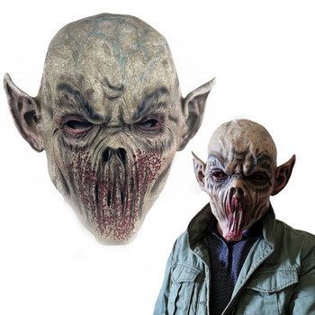 Horror Bloody Zombie Mouthless Monster Mask Cosplay Scary Vampire Masquerade Halloween Party Costume Props будильник monster fighters vampire