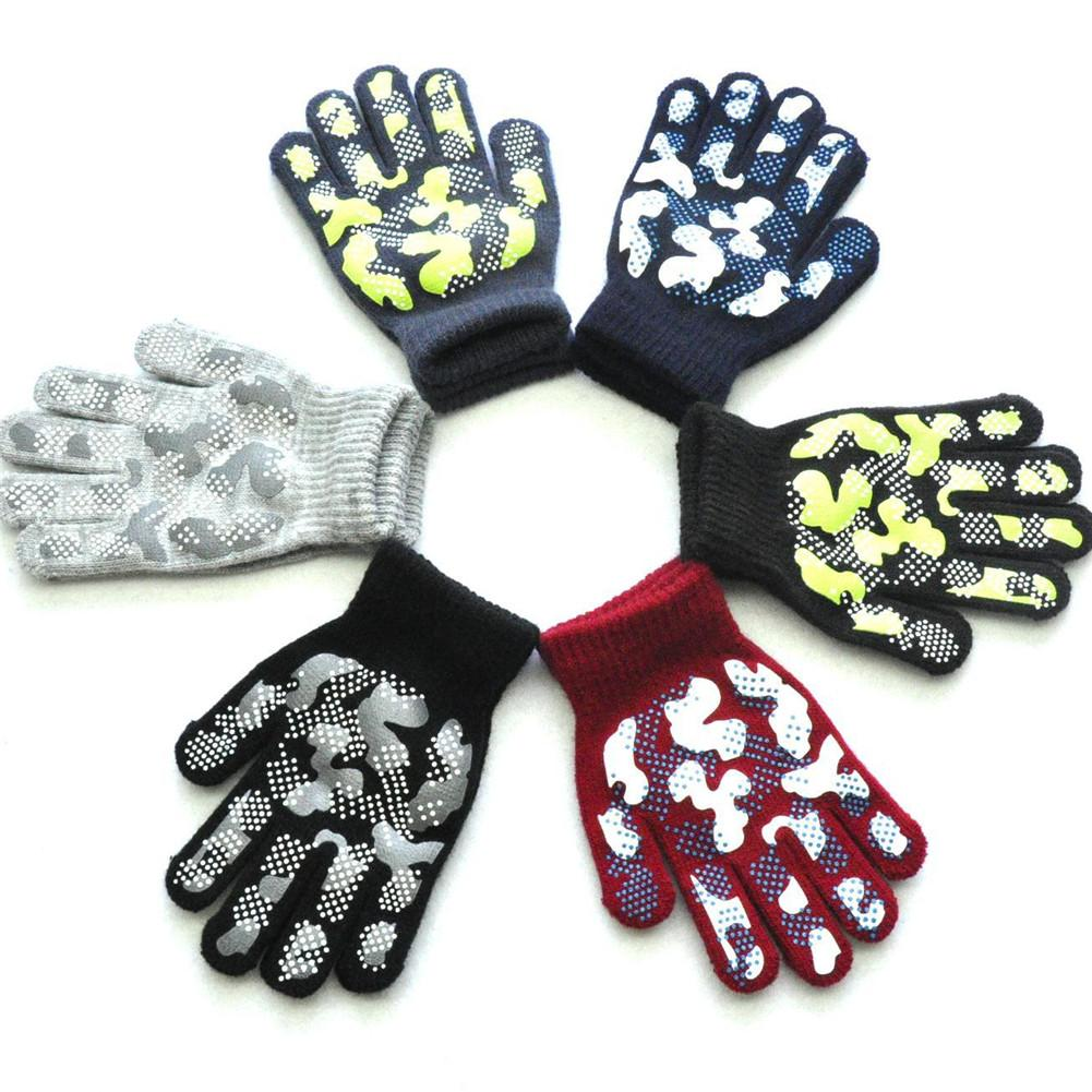1 PC Child Baby knitting Gloves Mittens Student Windproof Magic gloves