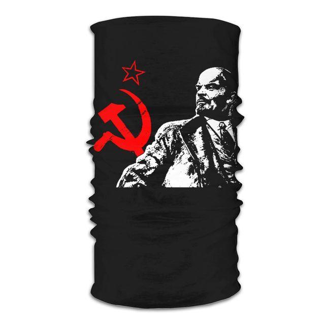 Шарф-Балаклава со звездами и полумаской для лица, Универсальная повязка на голову, для кемпинга, в стиле vir soviety, модная маска для лица, 2019 2