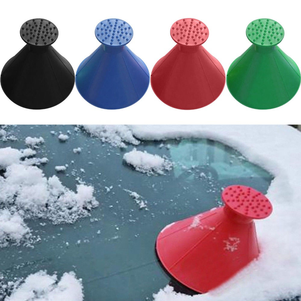 Magic Window Cleaner Windshield Car Ice Scraper Shaped Funnel Snow Remover Deicer Cone Deicing Tool Scraping ONE Round