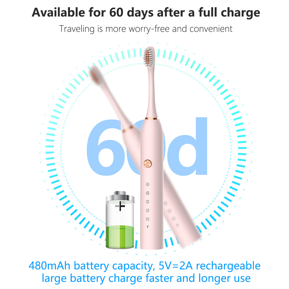 Powerful Ultrasonic Sonic Electric Toothbrush USB Rechargeable Tooth Brush Adult Electronic Washable Whitening relax Teeth Brush