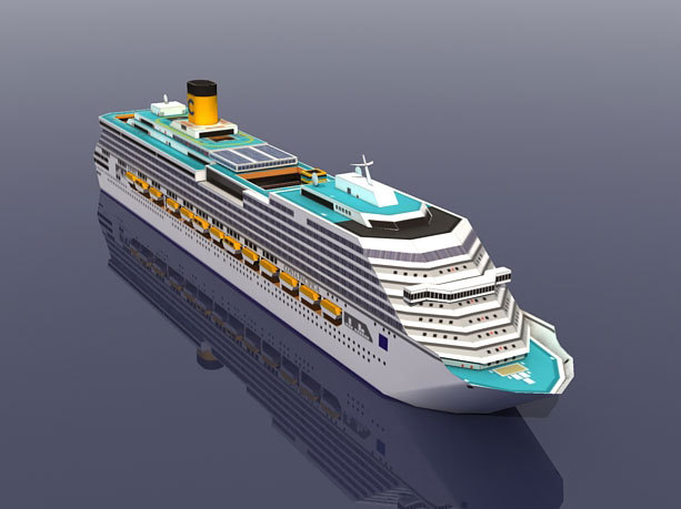 Costa Pacifica Cruise Ship 3D Paper Model DIY Puzzle Manual Papercrafts Toy 1