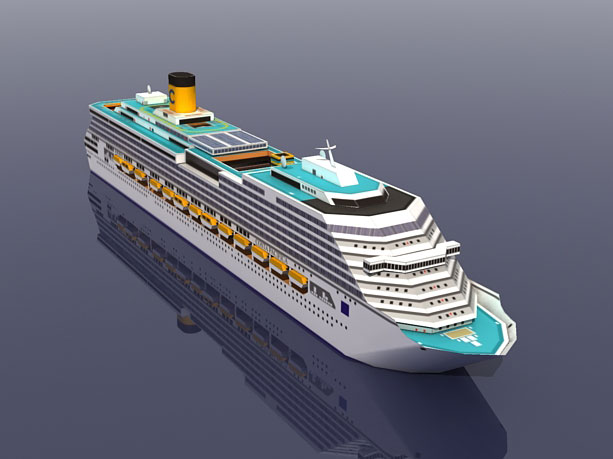 Costa Pacifica Cruise Ship 3D Paper Model DIY Puzzle Manual Papercrafts Toy