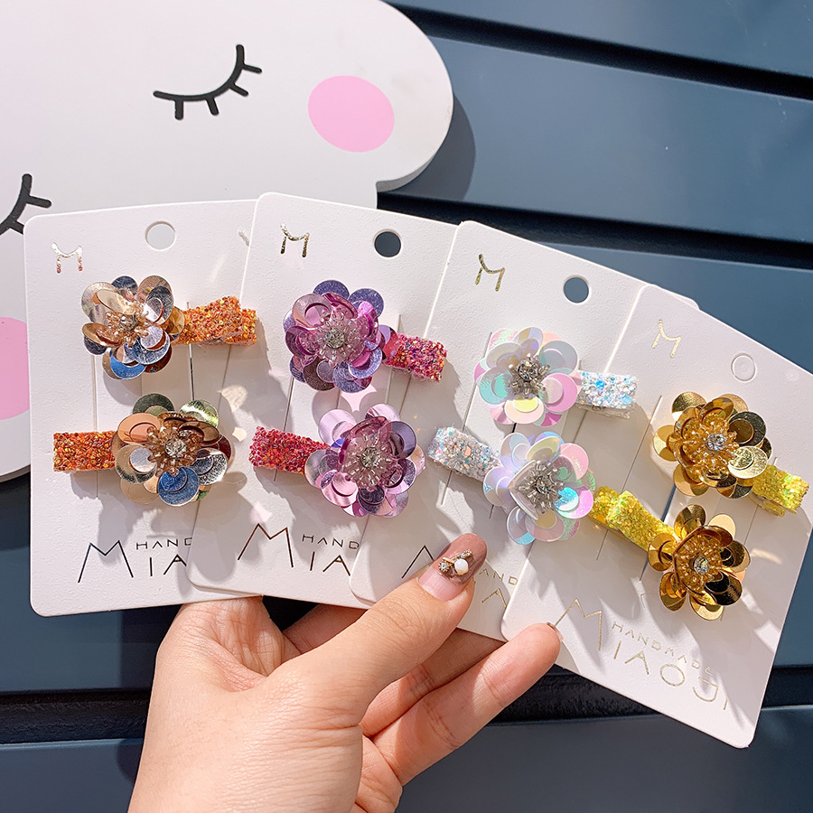 Korean Children's Creative Flower Press Clip Suit Temperament Super Fairy Handmade Hair Ornament Sweet Hairpin Girl's Head