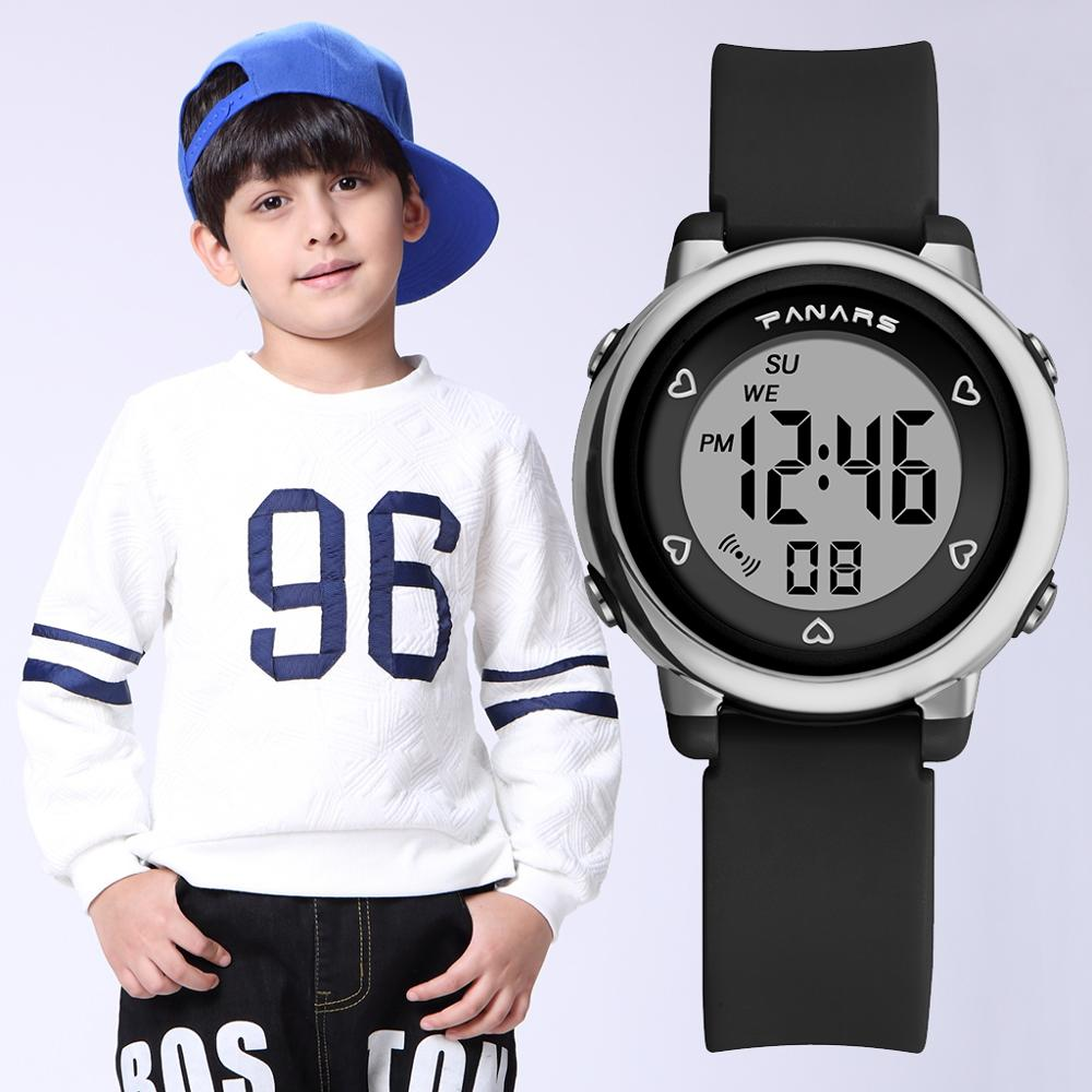 PANARS Fashion Kids Digital Watches Boys Girls Gift  Students Watches Colorful Luminous Sports Waterproof Children Watches