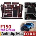 Anti-Rutsch-matte für Telefon Tor Slot Matten Cup Gummi Pads Teppich für Ford F150 F-150 Raptor F Serie 2015 ~ 2019 zubehör Aufkleber