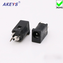 10pcs DC socket DC-002F power interface 3.5*1.3mm vertical straight line 3 pin DC002