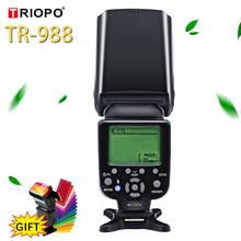 TRIOPO TR 988 فلاش المهنية Speedlite TTL فلاش كاميرا مع مزامنة عالية السرعة لكانون نيكون كاميرا SLR الرقمية PK YN560IV