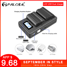 PALO EN-EL15 ENEL15 EL15 Battery Charger LCD USB Dual Charge