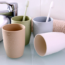 Toothbrush Household Bathroom Plastic Tumblers Simple Fresh Thicken Round Couple Brush Cup Washing PP Material Portable