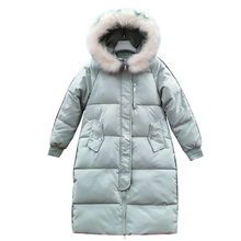 Winter 2019 New Casual Parka Women Sustans Fur Hooded A Line Thick X Long Zipper Solid Pockets Plus Size Snow Jackets Coats