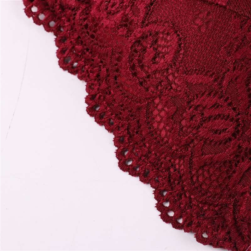 1/2PCS Women Bralette French Style Lace Bra Girls Triangle Cup Lingerie Deep V Wireless Underwear Soft Thin Seamless Bra