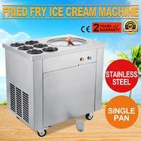Fried Ice Cream Maker Rolo 1 Pan Fry Máquina de Sorvete de Iogurte Comercial 6 Caixas