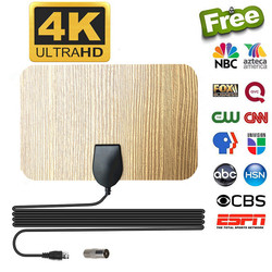 Gain 25db HDTV Antenna TV receiver Indoor 1080P 150 Miles Digital Freeview clear Satellite receiver Radius Surf DVB-T2 Aerial