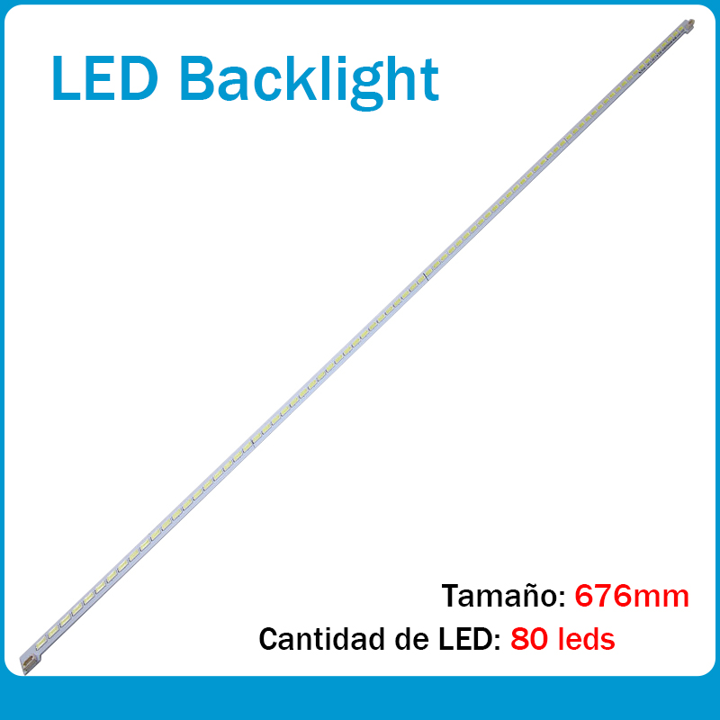 Nuevo 1 Piezas 80 LED 676mm LED55X5000DE LTA550HQ22 550HQ20 HQ16 Tira De LED LJ64-03515A STS550A66_80LED_rev0.1_111117