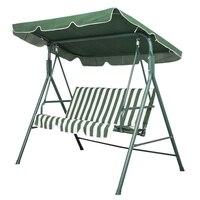 Garten Terrasse Metall Schaukel Stuhl Sitz 3 Sitzer Hängematte Bank Schwingen Gepolsterten auf