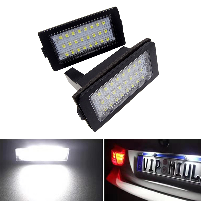 JIUWAN lumière de plaque dimmatriculation de voiture | 2 pièces, lumière dimmatriculation de BMW E38 6000-1995 24 SMD blanche Led plaque dimmatriculation, ampoule lumineuse 12v 2001 k