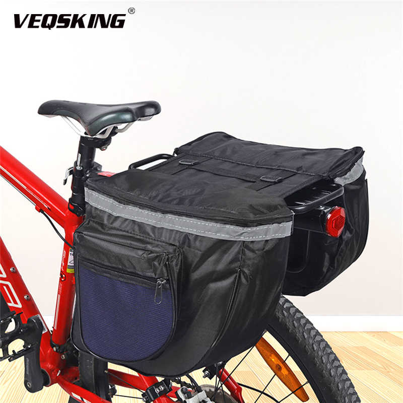Cycling Bike Rack Pannier Bicycle Double Frame Bags Bike Rear Seat Carrier
