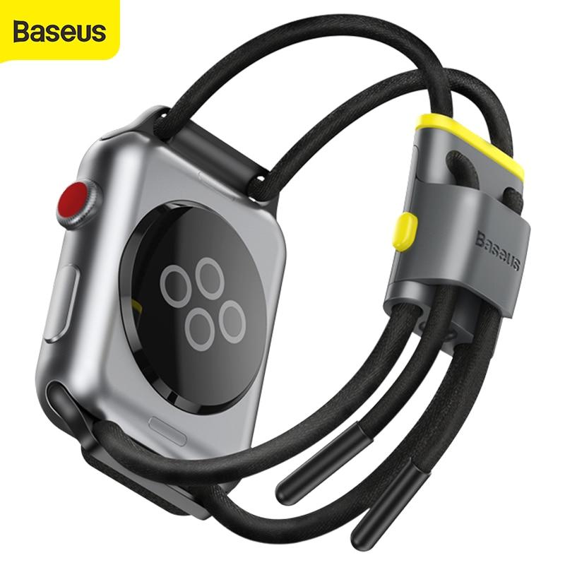 Плетеный ремешок Baseus с замком для Apple Watch Series 3/4/5, с отверстием для хранения, ажурные двойные веревки с вырезом|Смарт-аксессуары|   | АлиЭкспресс